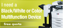 Get a free quote on a black & white or color multifunction copier!