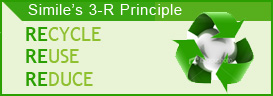 Simile's 3-R Principle - Recycle, Reuse and Reduce. Simile offers Green Solutions for your business!